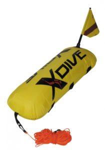 PVC yellow buoy with nylon